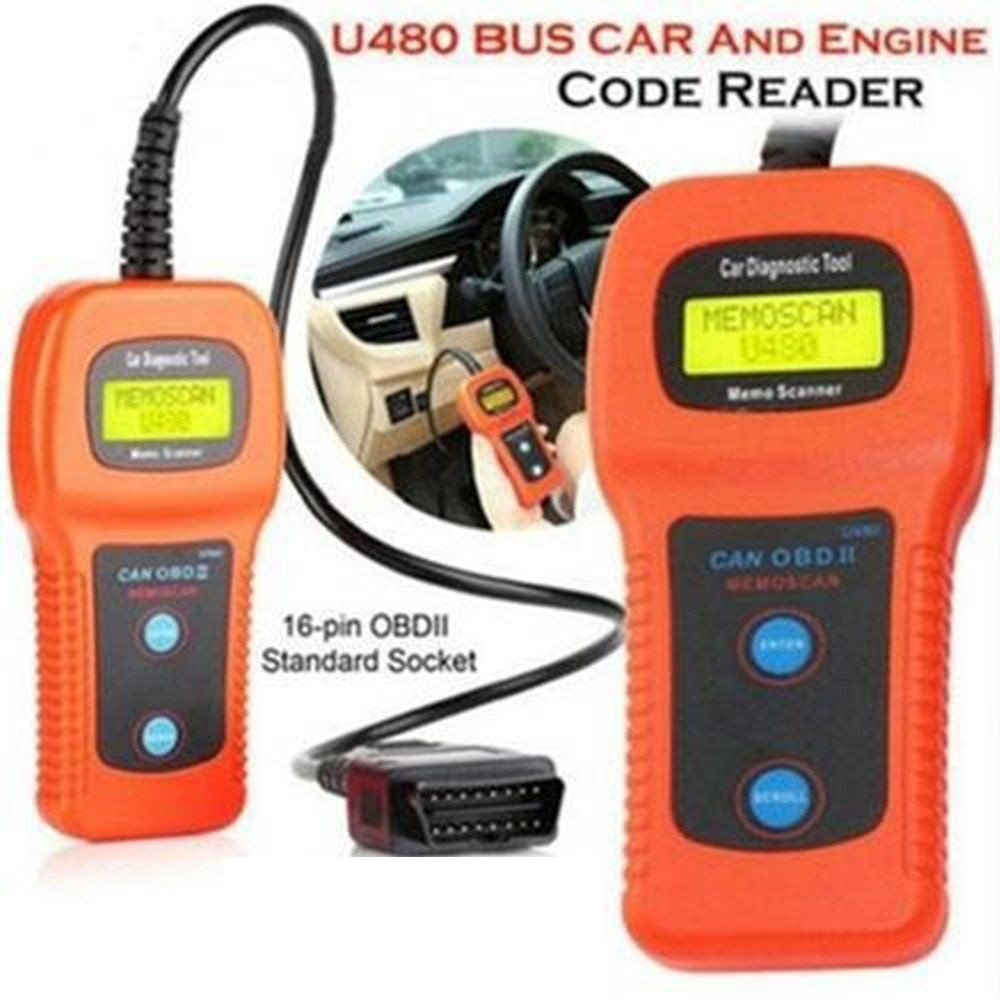 Car Diagnostic Instrument U480 OBDII /EOBD Car or Truck AUTO Diagnostic Engine Scanner BUS Code Reader Engine Scanner
