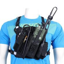 ABBREE Радио Чехол нагрудный карман сумка чехол для Baofeng UV 5R UV 10R UV 9R UV S9 TYT TH UV8000D Yaesu, рация