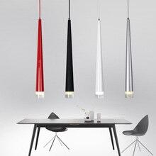 Lámparas colgantes LED en forma de cono Luces colgantes modernas de 3W para restaurante/sala de estar/Bar, lámparas para decoración del hogar, luminaria de iluminación