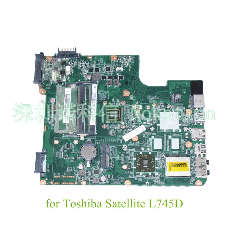 NOKOTION DA0TE6MB6G0 REV G A000093580 para Toshiba Satellite L745 L745D placa base de computadora portátil EME450 CPU DDR3