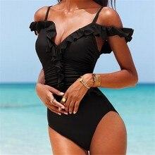 Sexy taille haute une pièce maillots de bain femmes Monokini maillots de bain Maillot de bain Monokini Traje de bano mujer Trikinis Badpak Bikini Maillot