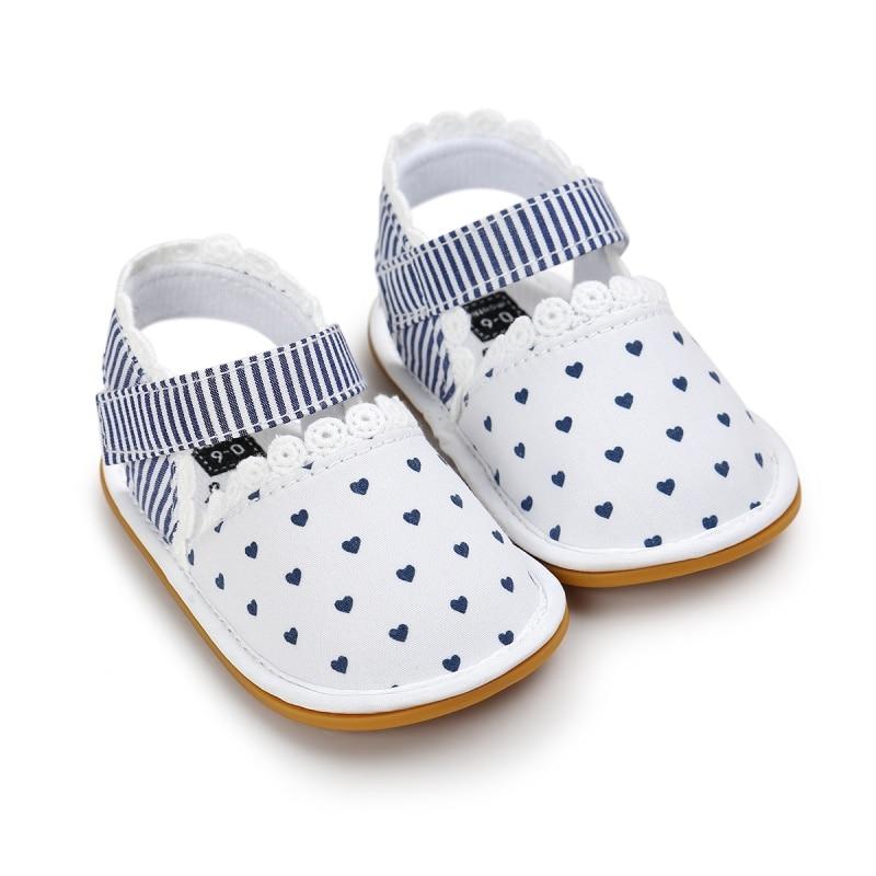 Летняя Милая обувь для маленьких девочек; обувь в стиле ретро с принтом; обувь для кроватки; Новинка; Возраст 0-18 месяцев