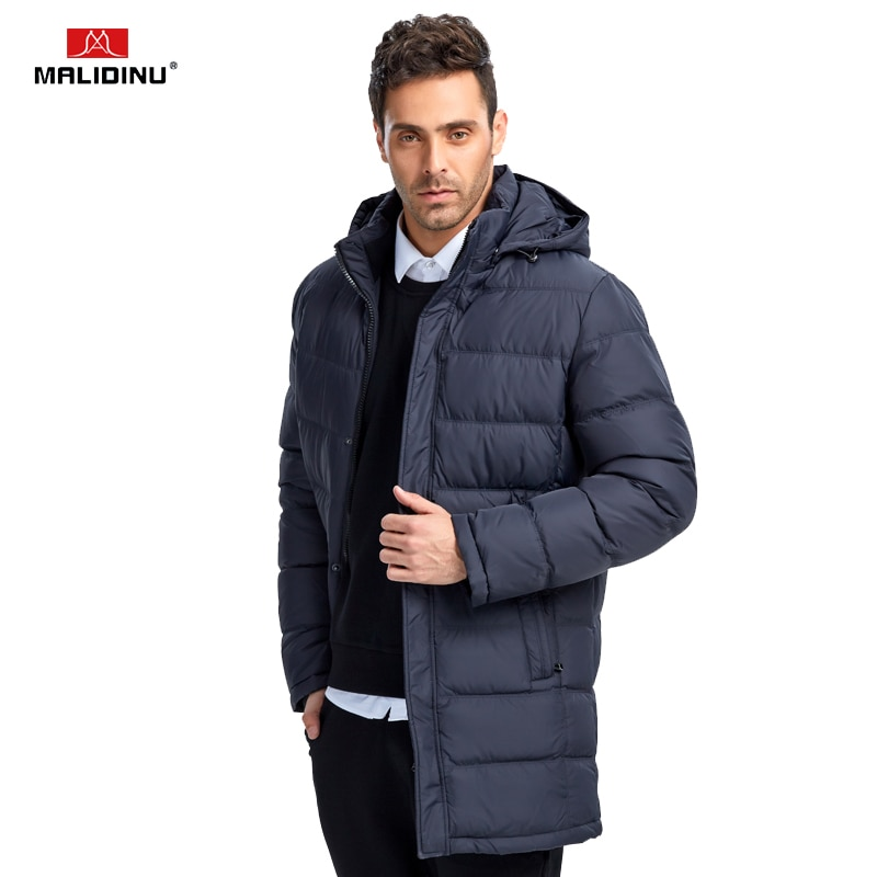 Фото - MALIDINU 2021 Men Down Coat Winter Long Down Jacket Down Parka Brand Fashion Winter Coat Mens Long Down Coat Windproof Warm Coat пуховик long down jkt 1