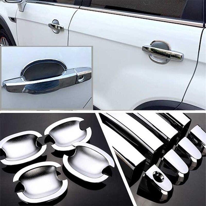 Não-Oxidado Chrome Maçaneta Da Porta Bacia Tampa Cup Overlay Guarnição Para Chevrolet Captiva