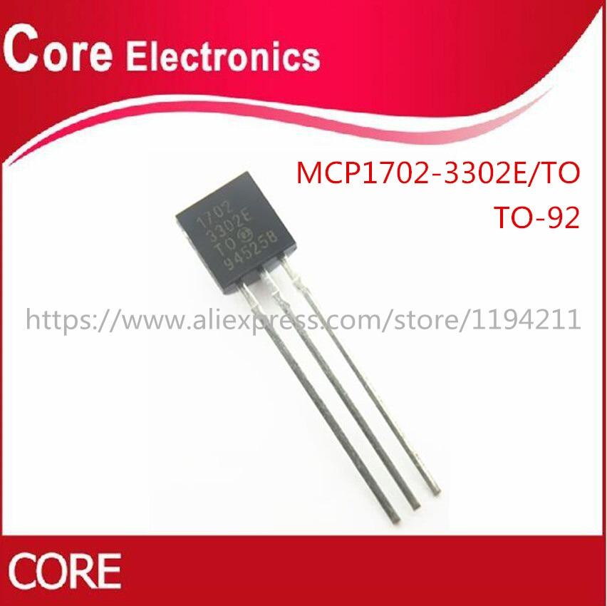50 unids/lote MCP1702-3302E/MCP1702-3302E 1702 MCP1702 3,3 V 0.25A-92-3