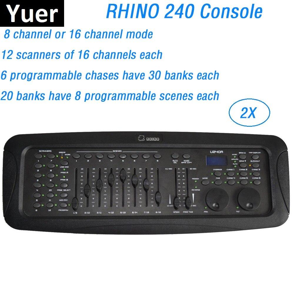 RHINO 240 профессиональный DMX контроллер сценическое освещение DJ оборудование DMX512 пульт управления LED Par свет движущаяся головка прожекторы