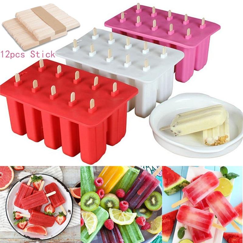 Molde de 10 células para hacer helados y helados, molde para hacer helados y Yogurt, molde DIY
