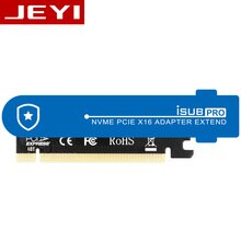 JEYI iSUB PCIE3.0 NVME adaptateur x16 PCI-E pleine vitesse M.2 2280 feuille daluminium conductivité thermique silicium gaufrette de refroidissement