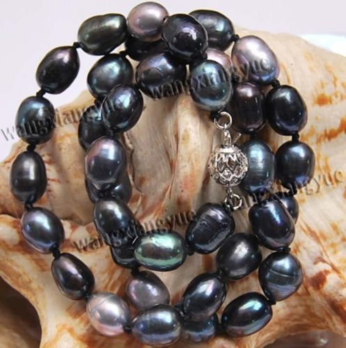 8-9mm Color Natural Akoya collar de perlas cultivadas 17 ^^@@^ Noble estilo Natural fino jewe envío gratis