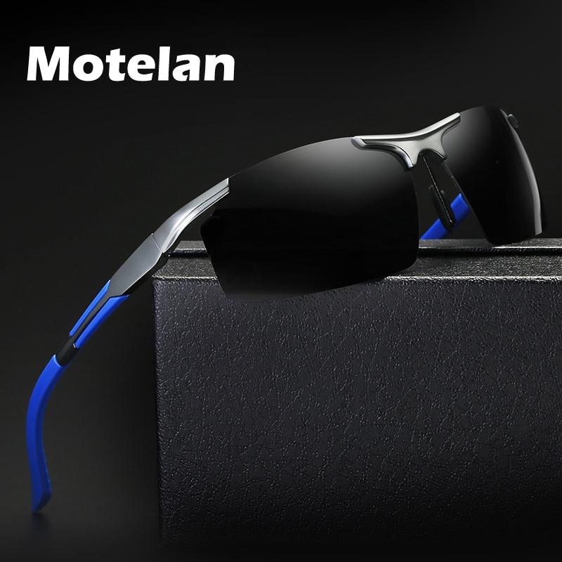 2019 New Mens Polarized Rimless Aluminum Sunglasses for Driving Polarised Fashion Eyewear Oculos UV4