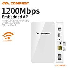 COMFAST 1200Mbs mur intégré AP routeur 2.4G 5.8G double bande sans fil WIFI Wave2 Point daccès USB chargeur + 5 * RJ45 Port CF-E560AC