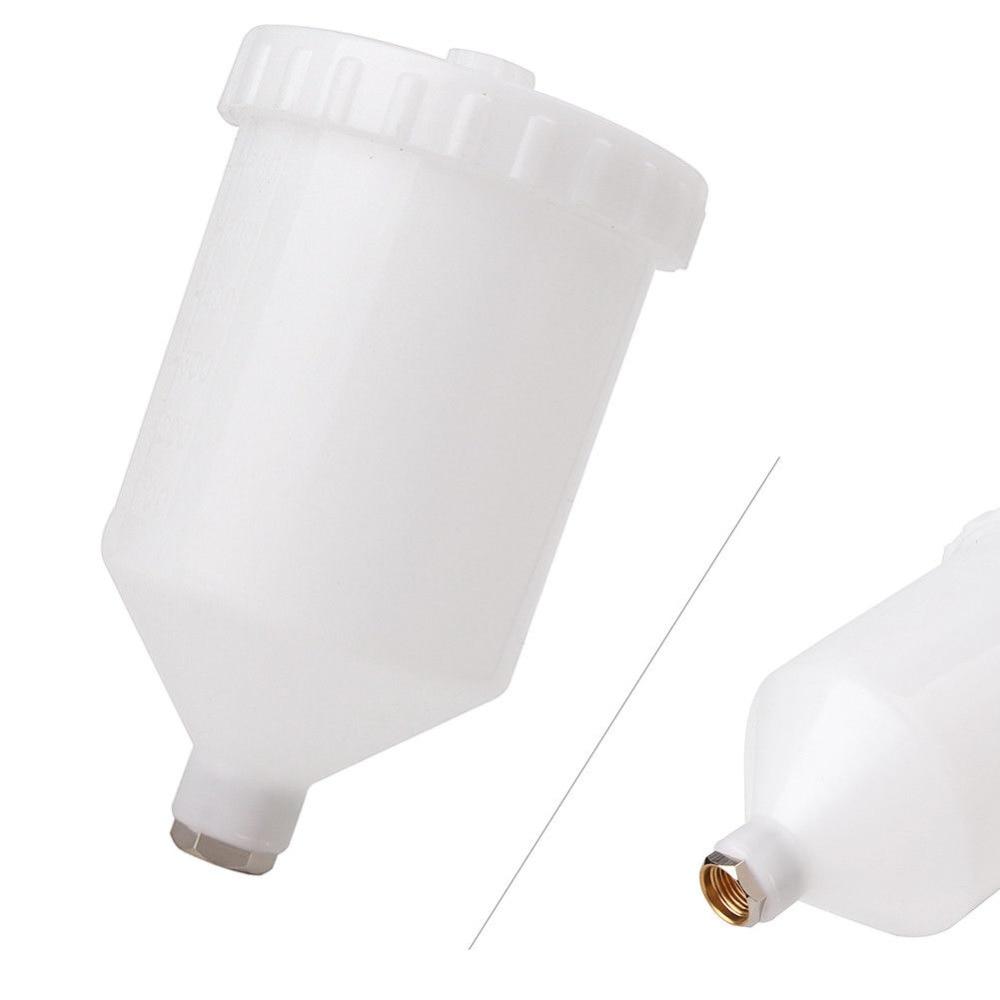 600ml plástico spray de pintura pote pulverizador copo ar gravidade alimentação fastmover rosca conector para pistola ferramentas