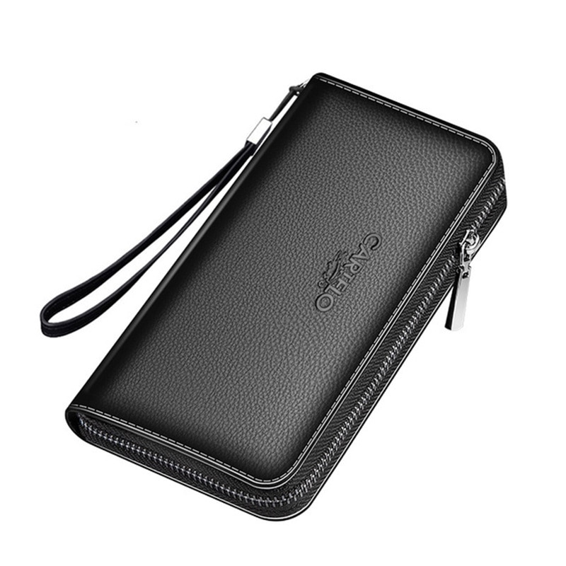 2019 New Come Fashion Men Long Wallet PU Leather Purse Handbags For Male Luxury Brand Fashion zipper men clutches Wholesale
