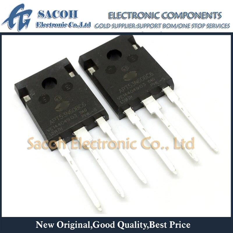 Frete grátis 5 peças apt53n60bc6 apt60n60bcsg apt77n60bc6 para-247 53a 600 v potência mosfet transistor