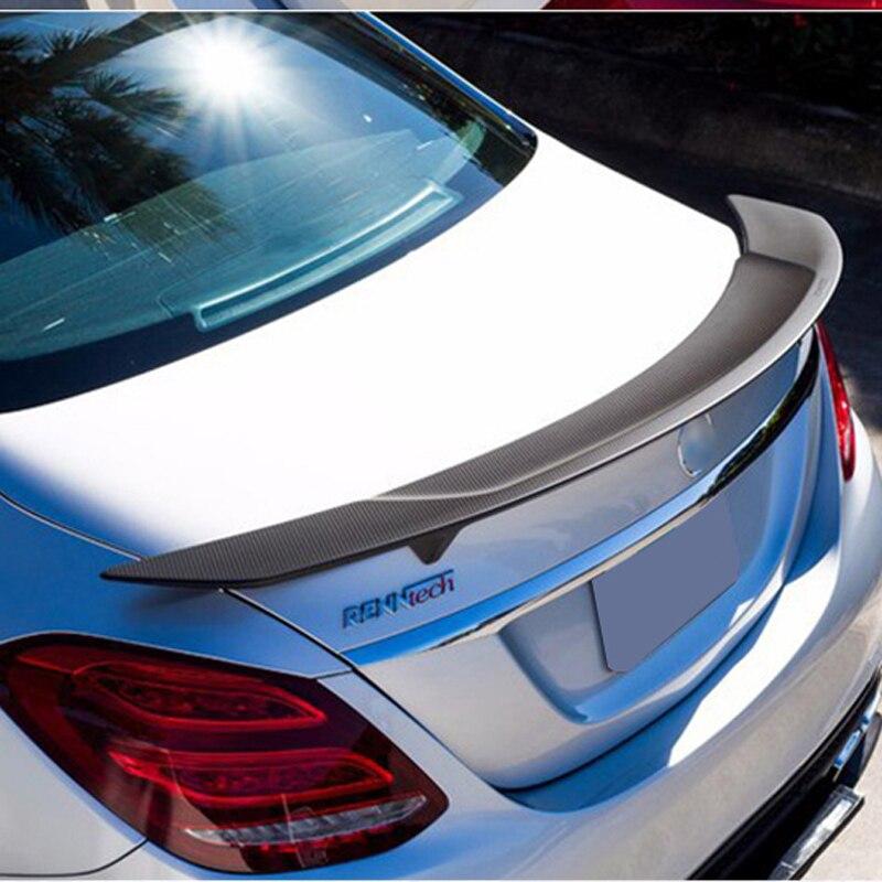 Alerón trasero de fibra de carbono para Mercedes W205 C180 C200 C300 C350 C450 C220 de 4 puertas 2015-2017GT