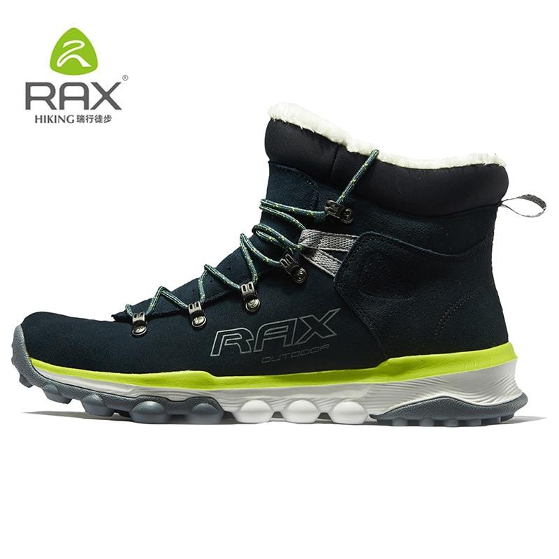 RAX Botas de senderismo para hombre, botas de nieve deportivas profesionales para exteriores cálidas de invierno para mujer, calzado de senderismo ligero antideslizante, PlushLining