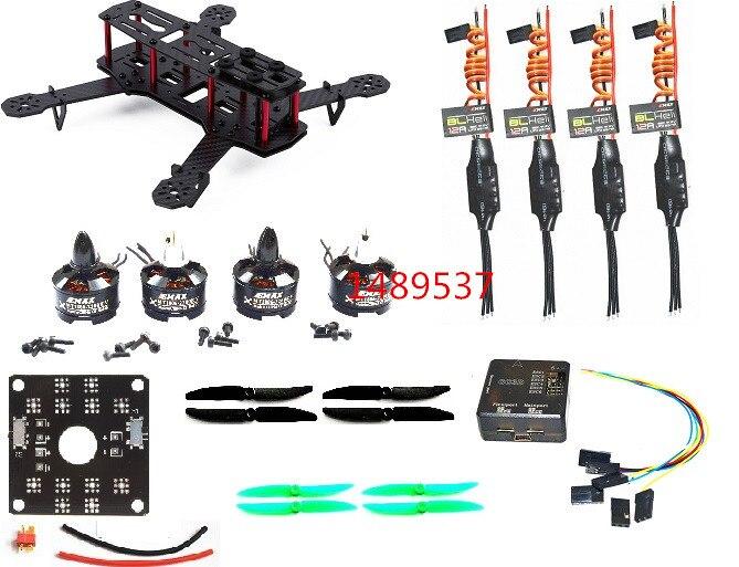 Fibra de carbono ZMR250 C250 Quadcopter & MT1806 2280kv Motor & Esc & CC3D 12A BLHeli Controlador de Vôo 5030 para Prop QAV250