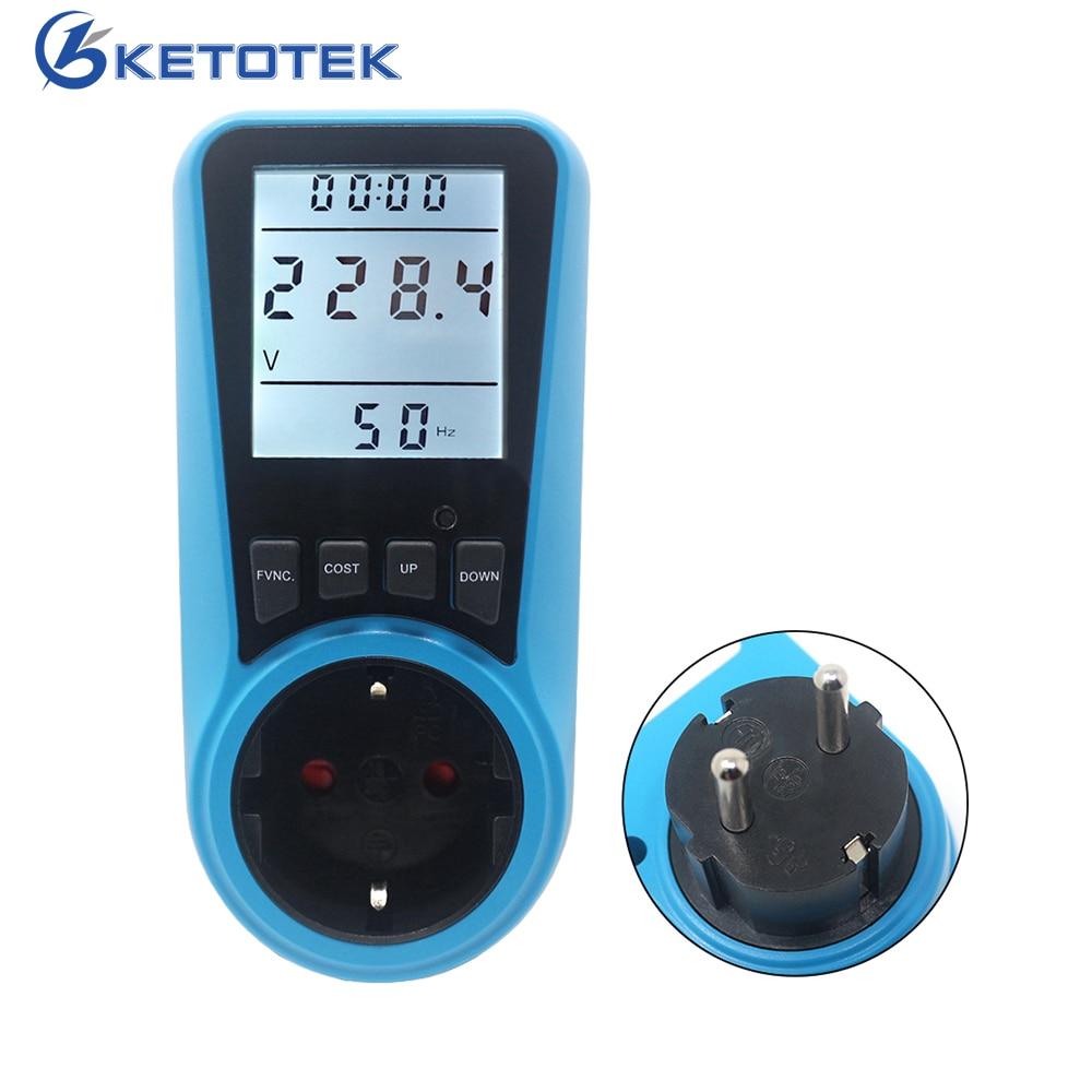 Измеритель мощности переменного тока 230 В 50 Гц ЕС США FR разъем анализатор цифровой ватт-метр ватт монитор энергии время Вольт Ампер Герц ватт кВтч цена