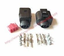 20 Sets 3 Pin 1J0973803 1J0973703 Female And Male 1.5mm Auto Temp Sensor Plug Deflation Valve Plug Waterproof Connector For VW