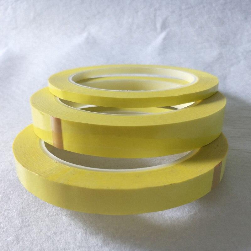 5mm ~ 18mm de ancho elegir 66M de largo/rollo amarillo cinta de aislamiento adhesivo para transformador Motor condensador bobina envoltura Anti-llama