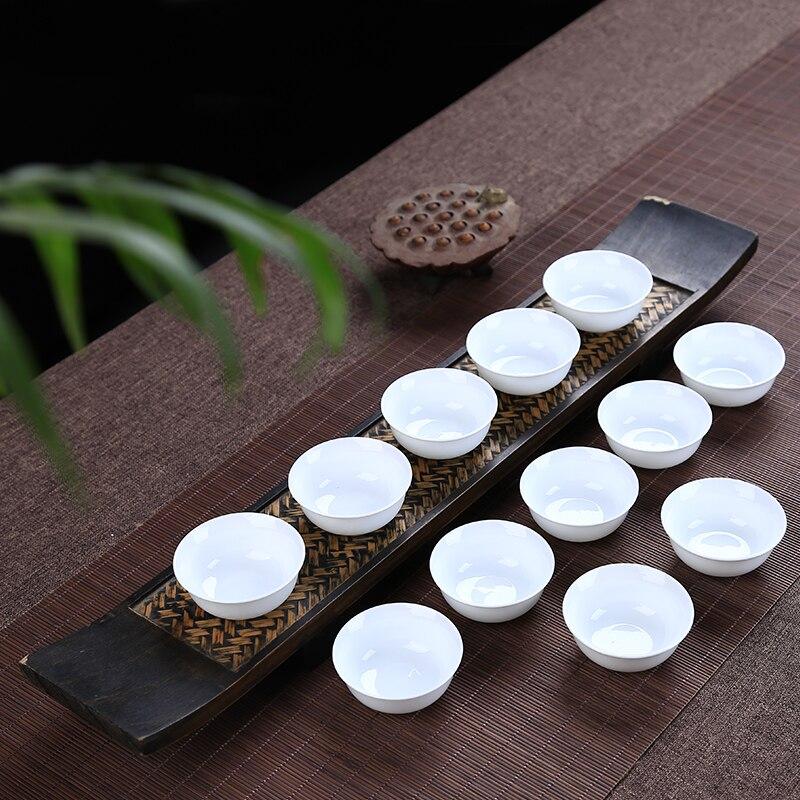 Китайские Кунг-фу чашки, белая маленькая чаша для чая, 12 шт. 28 мл