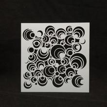 13*13 новые круглые пластиковые трафареты для скрапбукинга/фотоальбома, декоративное тиснение, бумажные карты для рукоделия