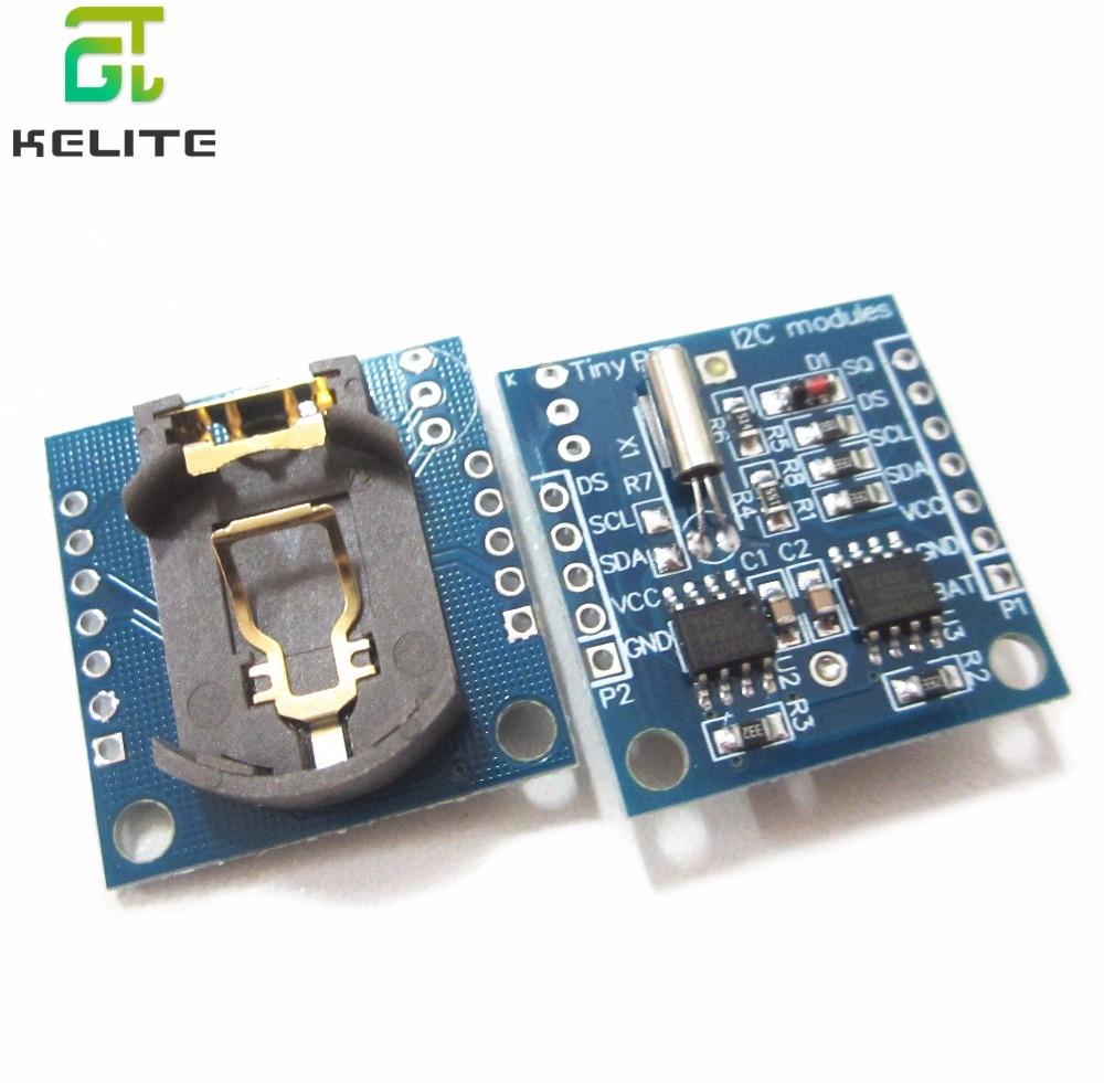Крошечные RTC I2C модули 24C32 память DS1307 часы RTC модуль (без батареи)