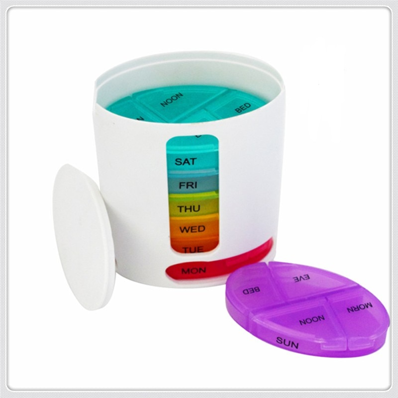 Outdoor portable creative medicine box seven-day medicine box capsule pillbox pillbox new products