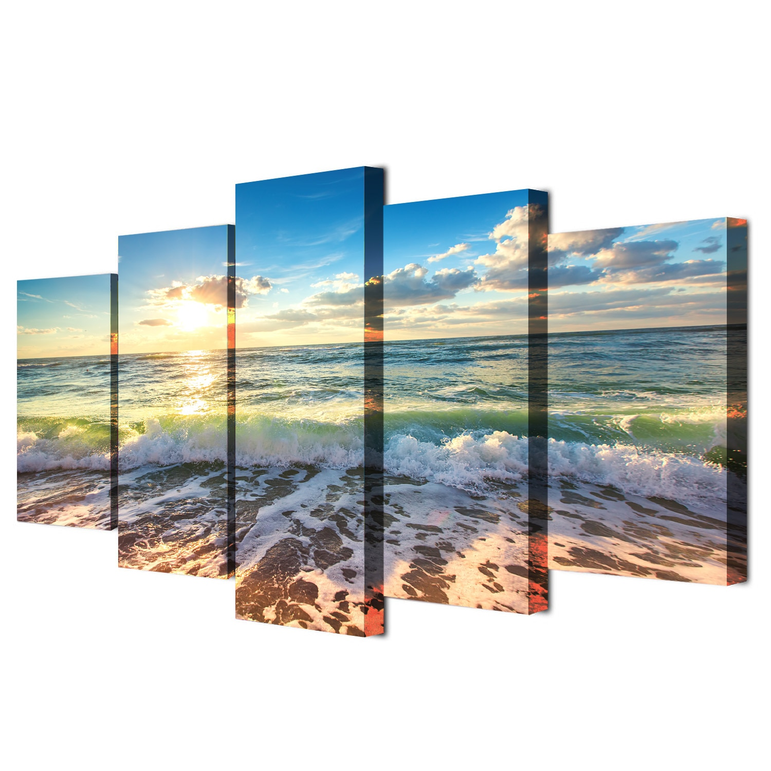 Drop shipping 5 Panel  Wall Art Pictures Canvas Painting abstract canvas poster painting decoration for living room LW148