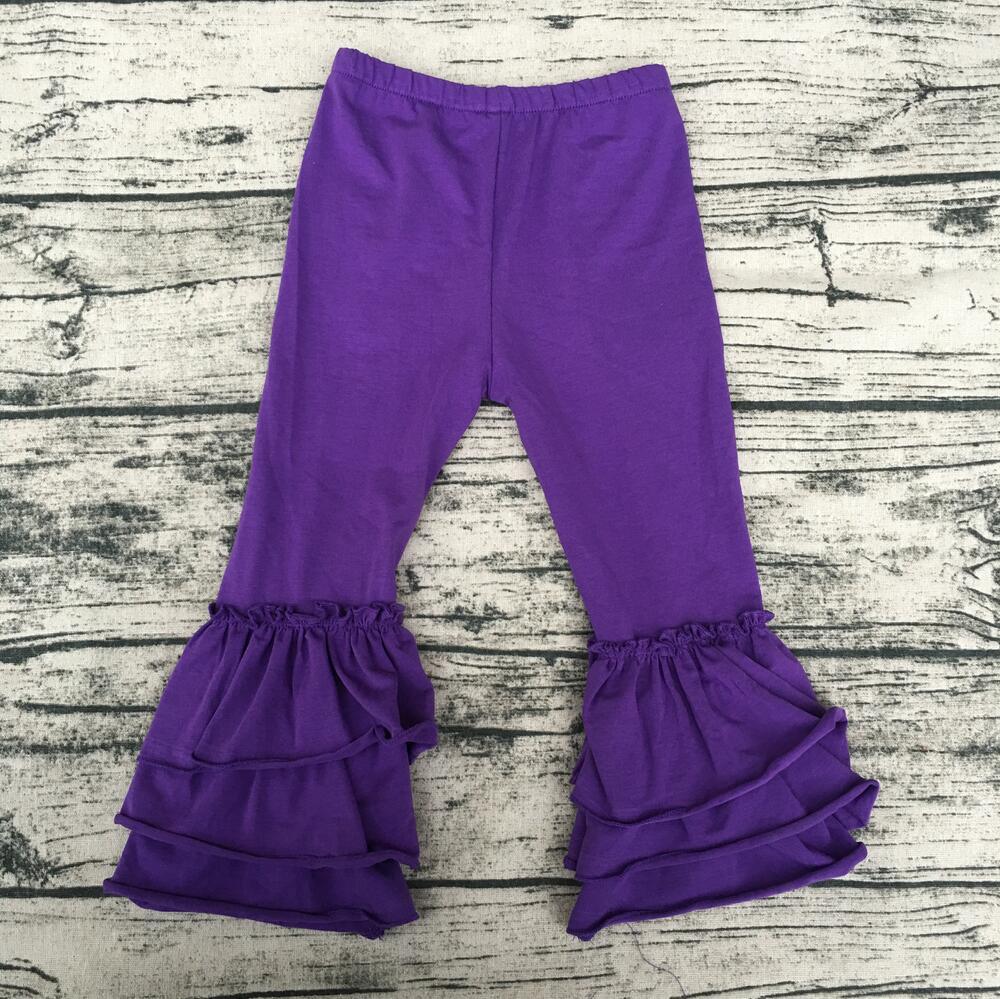 Venda quente Crianças menina boutique de qualidade roupa das crianças por atacado bonito pano meninas vestindo yoga indiano adulto calças plissado triplos
