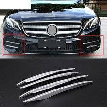 Couvercle de feu antibrouillard ABS chromé   Pour Mercedes Benz classe E W213 E200 E300 2016 2017 2018 2019 E43 accessoires de voiture AMG, 4 pièces