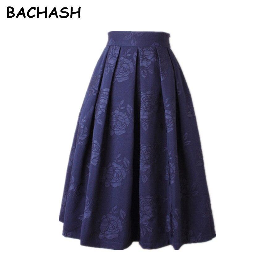 Женская плиссированная юбка BACHASH, винтажная черная/красная/белая офисная плиссированная юбка-пачка средней длины