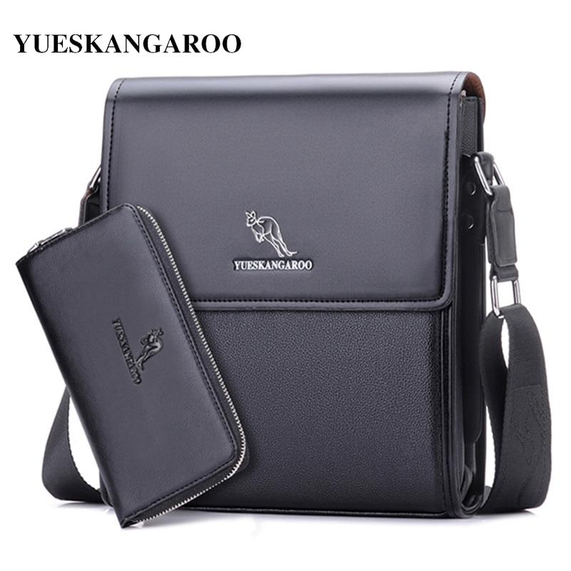 Мужская сумка-мессенджер YUES, кожаная сумка-кенгуру для IPAD