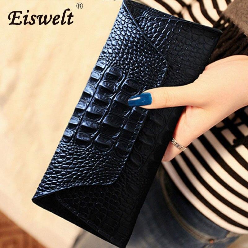 حقيبة يد نسائية من الجلد الطبيعي ، شحن مباشر ، محفظة طويلة ، تصميم محفظة ، حامل بطاقات للهاتف الخلوي