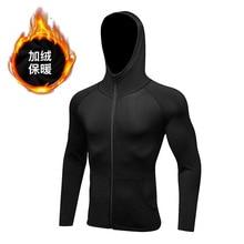 Men Fitness Hoodies Sweatshirt Men pullover Zipper jacket Sweatshirt Bodybuilding sportswear top coat clothing Track Hoody 2019