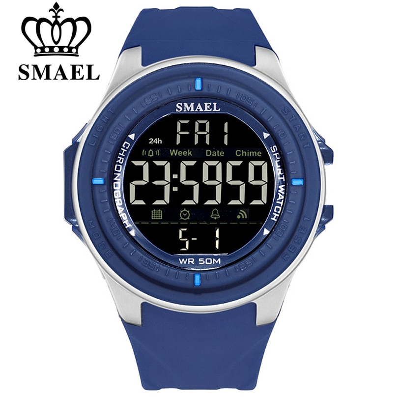 Mens Watches Sport Fashion Digital watches SMAEL Brand Waterproof Wristwatch Military Shock Chronograph Led Electronic Clock