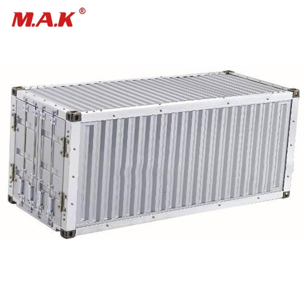 20ft recipiente terno para 1/14 escala metal kit caminhão semi-reboque trator tamiya modelo acessório