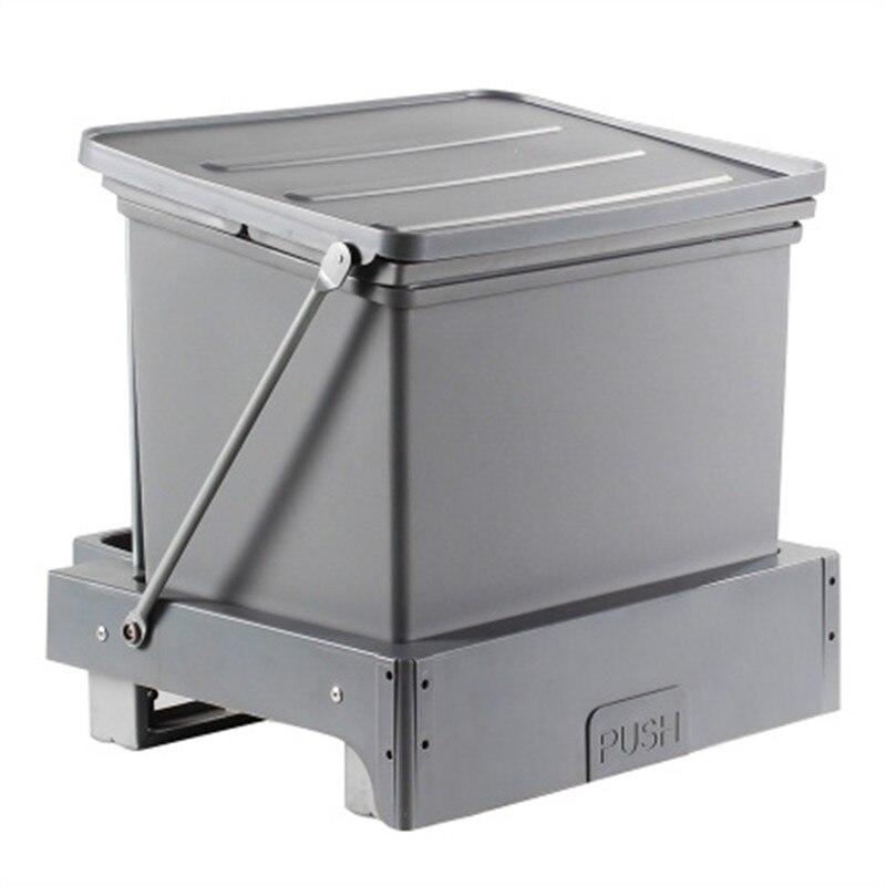 Cubo de basura incorporado de 16L, papelera de cocina Lixeira Embutida, cubo de basura empotrado automático para Bar
