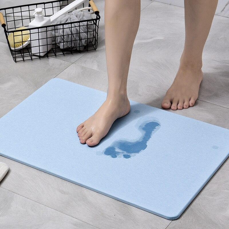 Almohadilla de pie absorbente de barro Diatom, alfombrilla de baño absorbente de secado rápido, alfombrilla de suelo duradero para baño, Alfombra de ducha para baño para inodoro