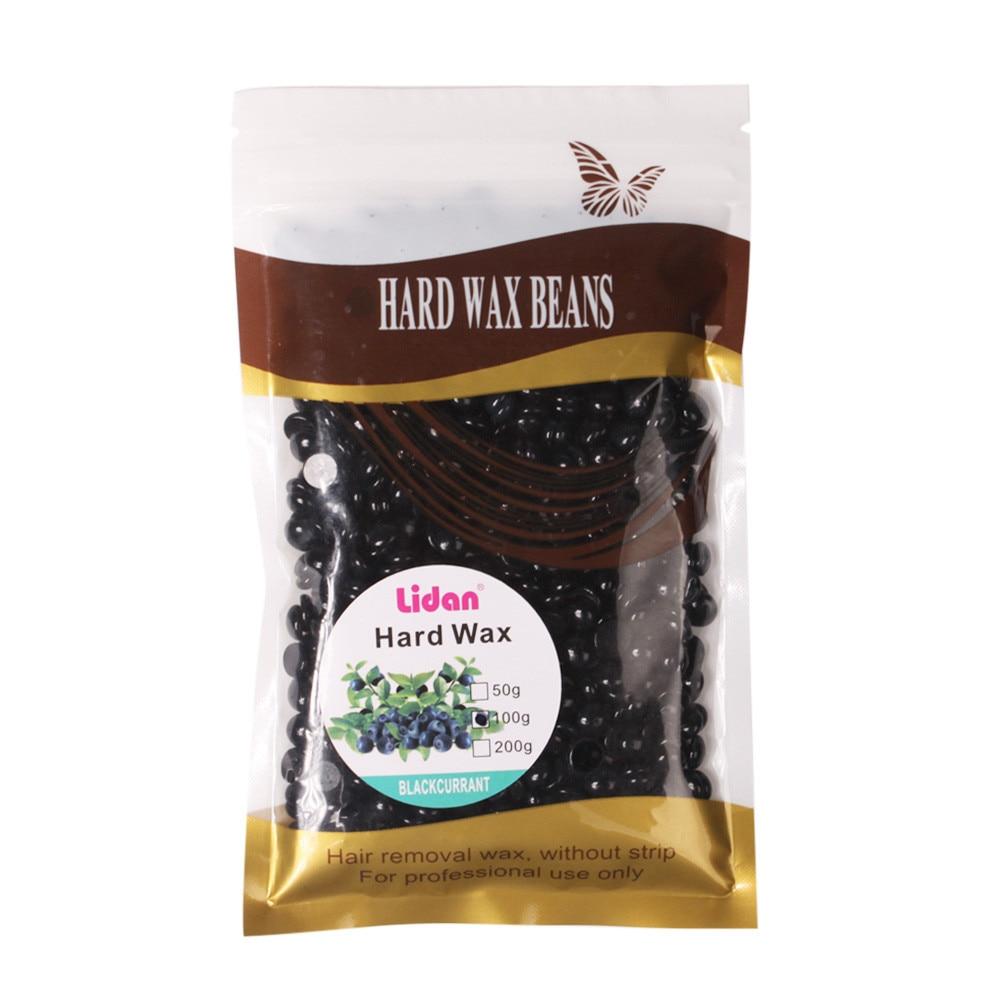 1 Bag 100g For Wholesale No Strip Depilatory Hot Film Hard Wax Pellet Waxing Bikini Hair Removal Bean Black For