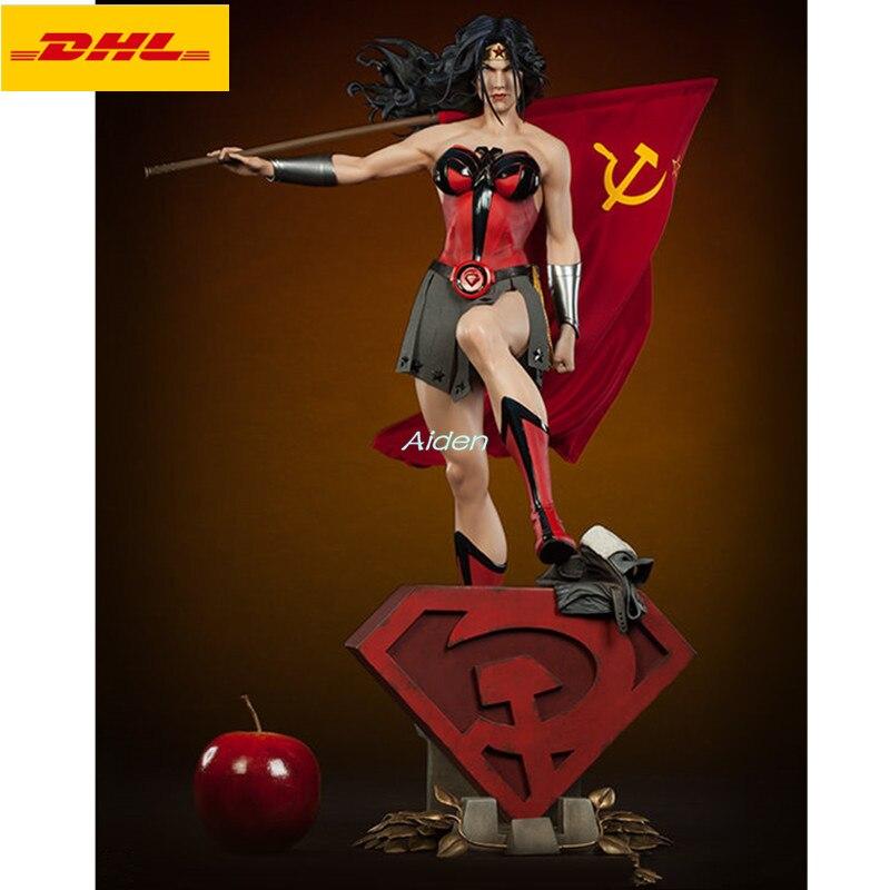 """22 """"anime figuras sexy estátua mulher maravilha-filho vermelho busto diana príncipe comprimento total retrato pf super-herói gk figura de ação brinquedo b981"""