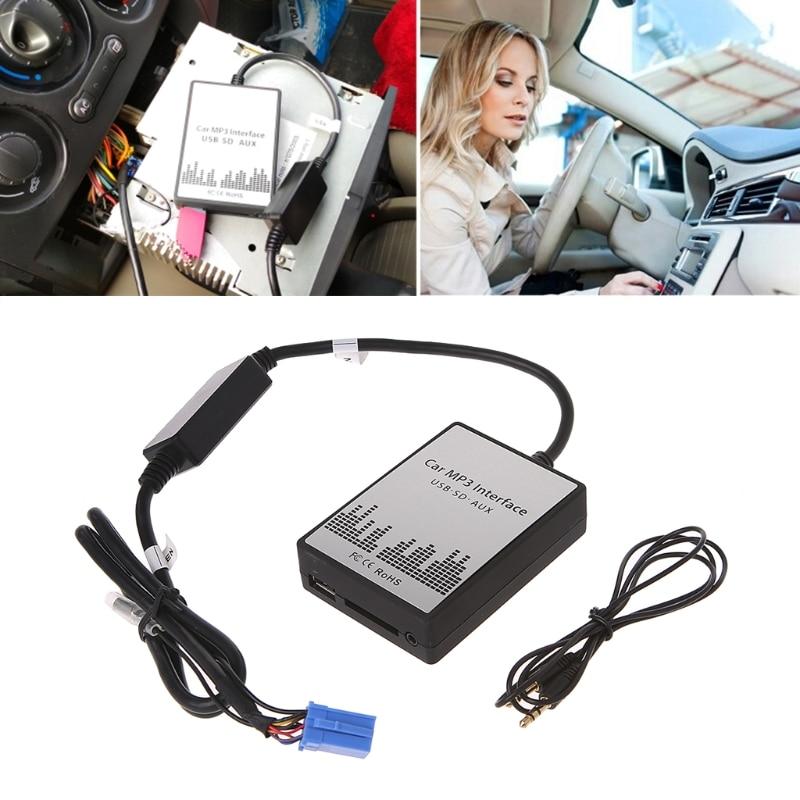 1 Set New MP3 Música Digital de Rádio Do Carro USB SD AUX Adaptador de CD Changer Para Renault Avantime 8pin Clio Mestre modus Interface de Dayton