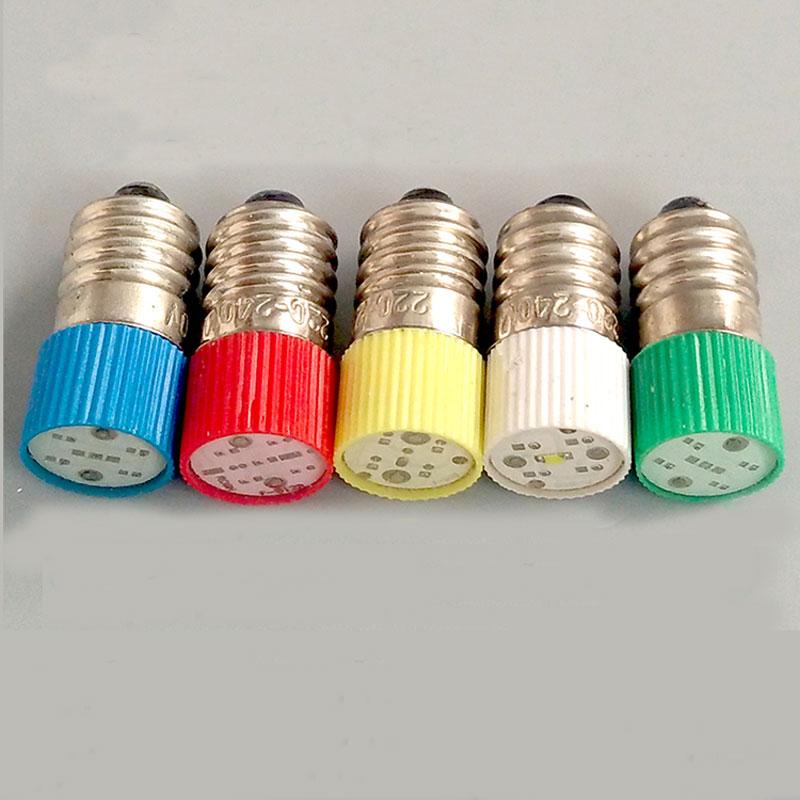 E10 LED indicateur dinstrument ampoule 12 V bouton interrupteur indicateur lampe