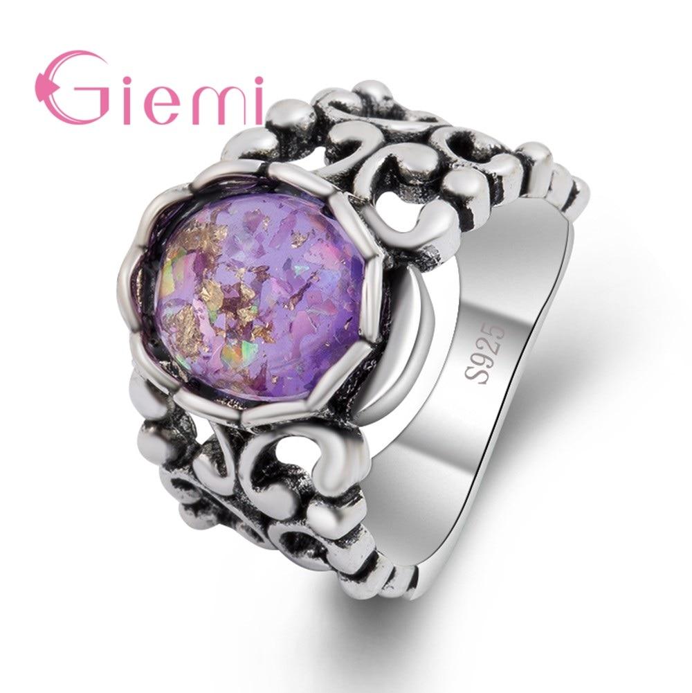 Широкое-женское-ювелирное-изделие-аксессуары-из-стерлингового-серебра-925-пробы-геометрическое-Винтажное-кольцо-с-круглым-фиолетовым-опал