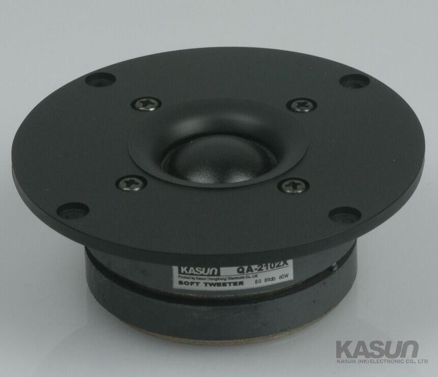 2 uds Kasun QA-2102X 4 pulgadas tela altavoz de tweeter de cúpula unidad del controlador Dual imanes de 1600Hz-20KHz 8ohm 60W D104mm