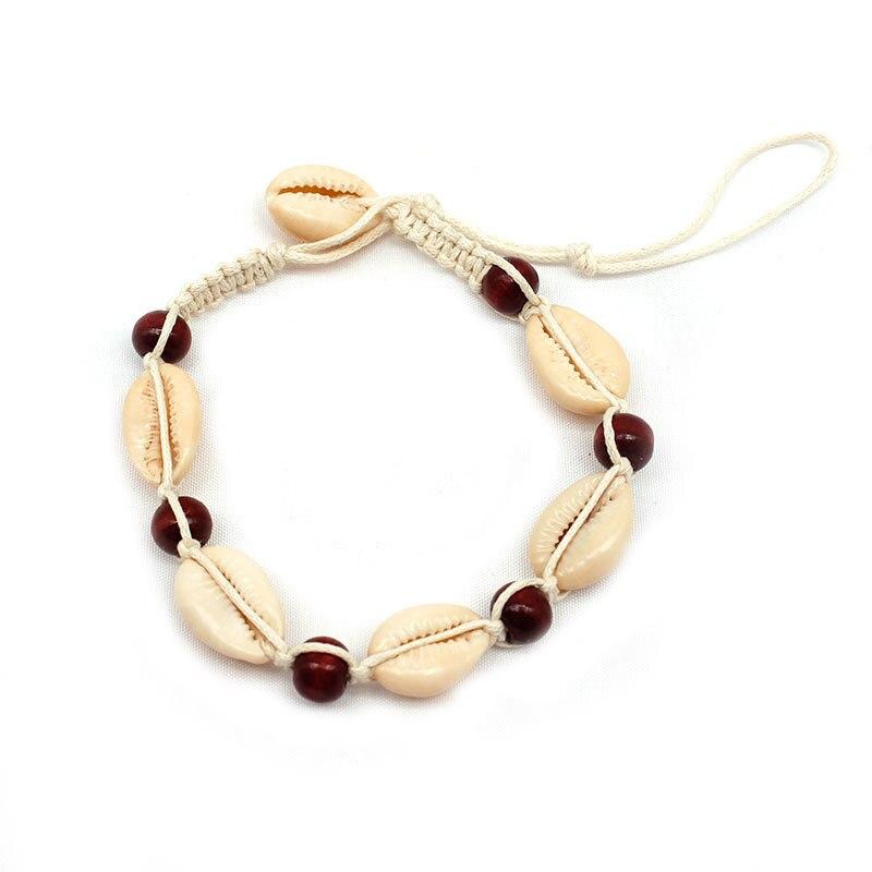 Nouveau été plage chaîne bracelets de cheville coquille tissé à la main créatif cheville Footchain Bracelet de cheville pour les femmes bijoux
