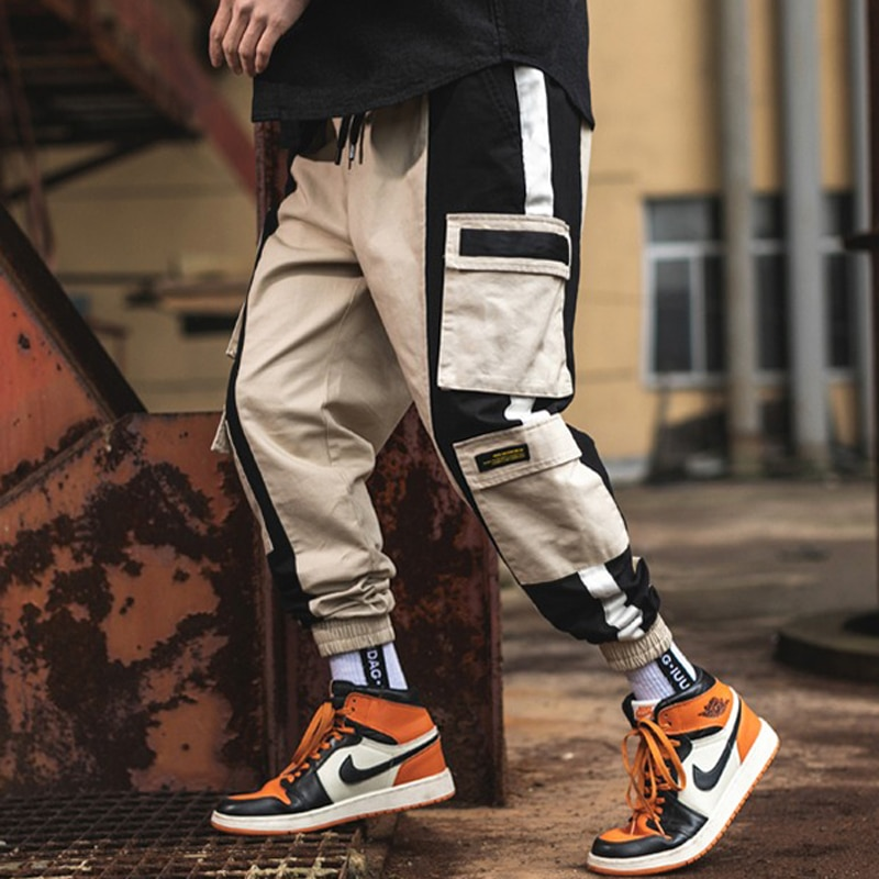 April MOMO 2019 Cargo Hosen Mens Fashion Baggy Hosen Hip Hop Casual Baumwolle Multi Taschen Hosen Streetwear Hosen Hombre