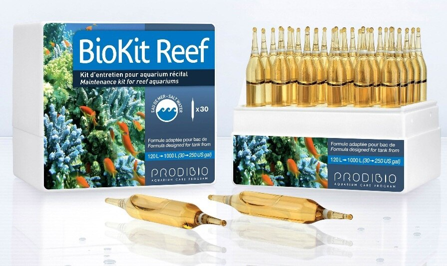 PRODIBIO BioKit Reef 30 vials Bio Digest BIOPTIM IODI+ BOOSTER 5 in 1 for Saltwater Aquarium Free Shipping
