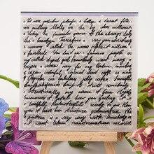 Tampon tampon en Silicone Transparent Transparent   Feuilles de timbres transparents et décoratifs, pour scrapbooking et album photo, bricolage