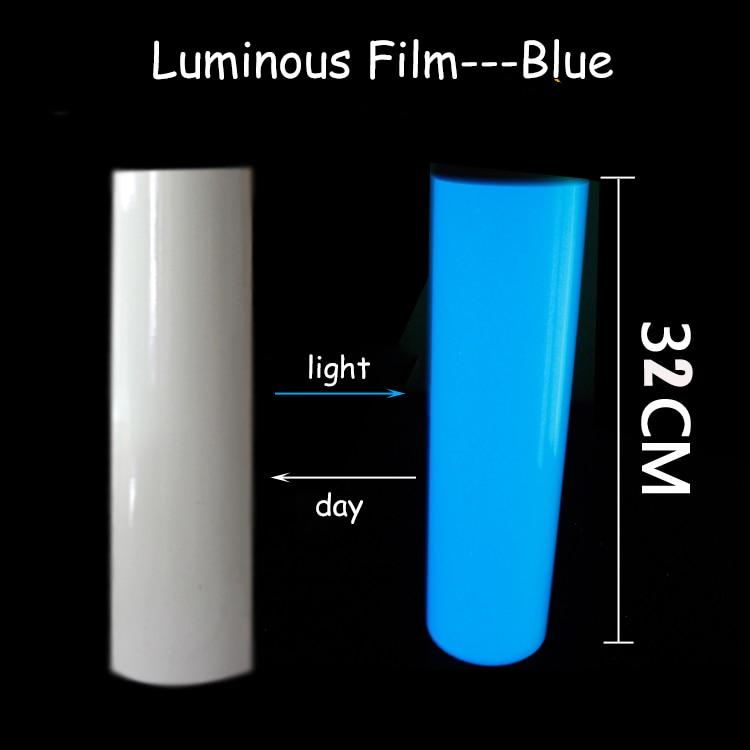 Anuncio de 32x100 cm, papel de grabado, papel autoadhesivo autoluminoso, calcomanía luminosa con brillo, pegatina fluorescente